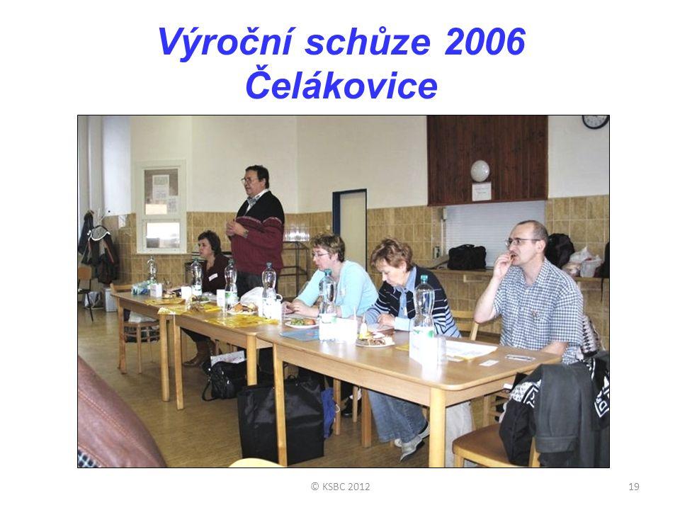 Výroční schůze 2006 Čelákovice © KSBC 201219