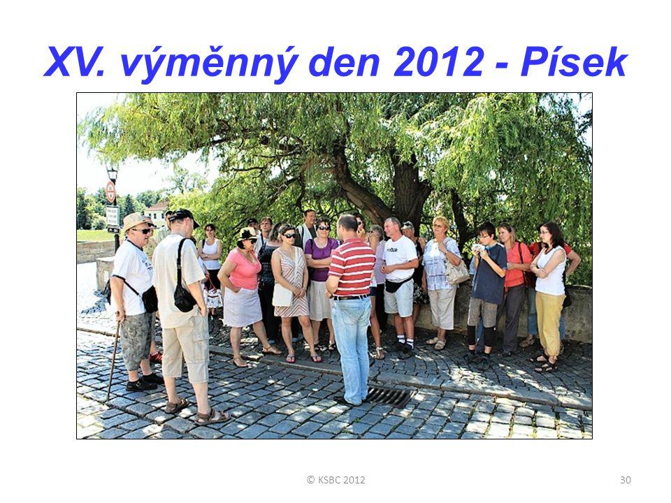 XV. výměnný den 2012 - Písek © KSBC 201230