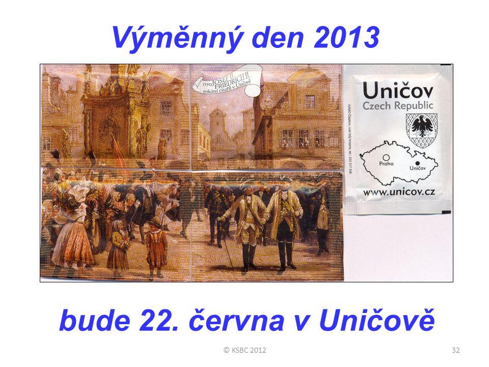 Výměnný den 2013 © KSBC 201232 bude 22. června v Uničově