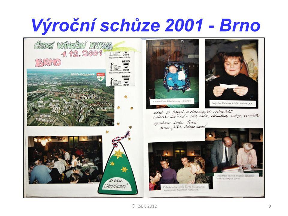Výroční schůze 2001 - Brno 9© KSBC 2012