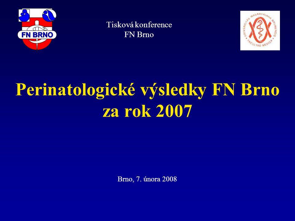 Perinatologické výsledky FN Brno za rok 2007 Brno, 7. února 2008 Tisková konference FN Brno