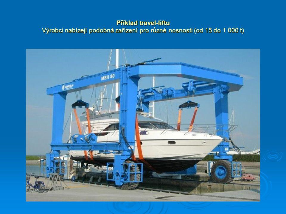 Příklad travel-liftu Výrobci nabízejí podobná zařízení pro různé nosnosti (od 15 do 1 000 t)