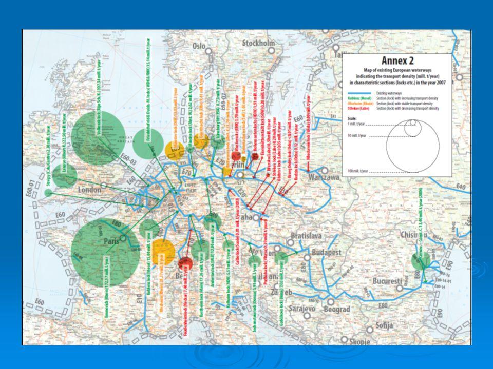 Výsledky prognózy přepravní intenzity na německých vodních cestách v roce 2025