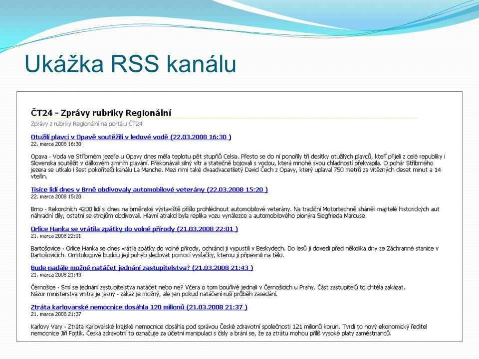 Ukážka RSS kanálu