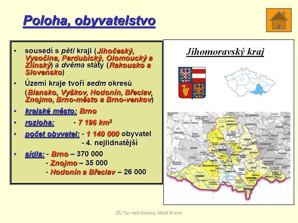 Poloha, obyvatelstvo sousedí s pěti kraji (Jihočeský, Vysočina, Pardubický, Olomoucký a Zlínský) a dvěma státy (Rakousko a Slovensko)sousedí s pěti kr