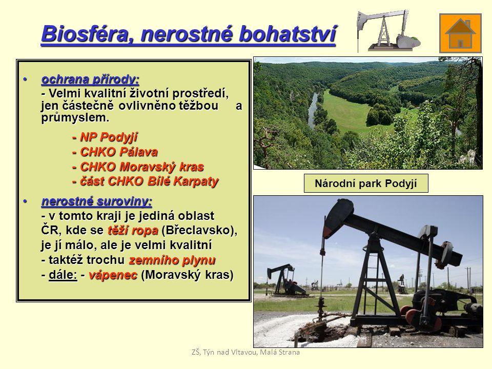 Biosféra, nerostné bohatství ochrana přírody:ochrana přírody: - Velmi kvalitní životní prostředí, jen částečně ovlivněno těžbou a průmyslem. - NP Pody