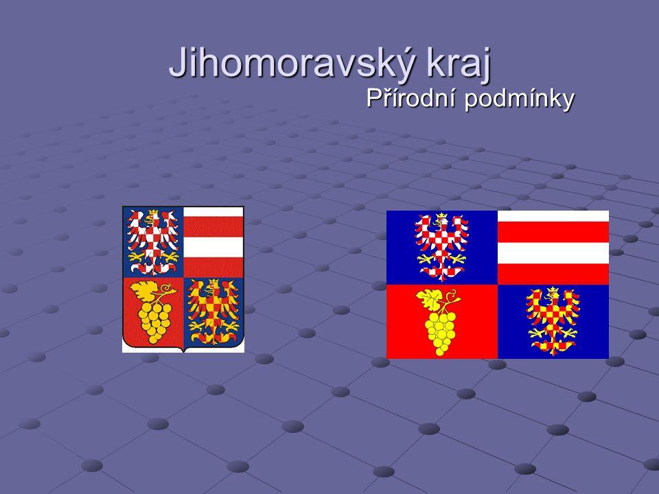 Poloha kraje Sousedí s Rakouskem a Slovenskem S krajem Budějovickým, Jihlavským, Olomouckým, Pardubickým a Zlínským.