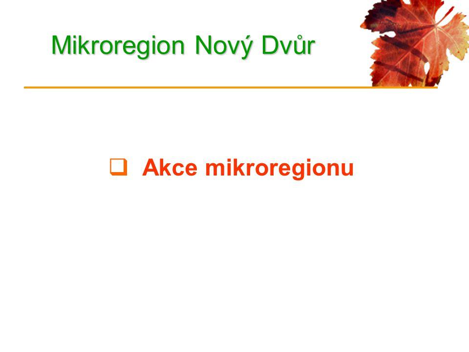 Mikroregion Nový Dvůr  Akce mikroregionu