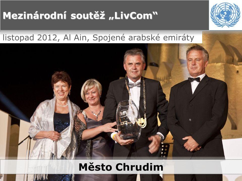 """listopad 2012, Al Ain, Spojené arabské emiráty Mezinárodní soutěž """"LivCom Město Chrudim"""