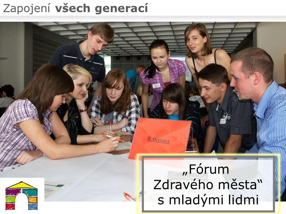 """Zapojení všech generací """"Fórum Zdravého města s mladými lidmi"""