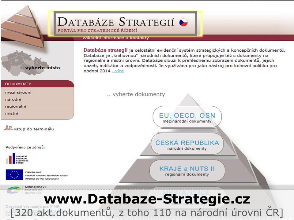 www.Databaze-Strategie.cz [320 akt.dokumentů, z toho 110 na národní úrovni ČR]