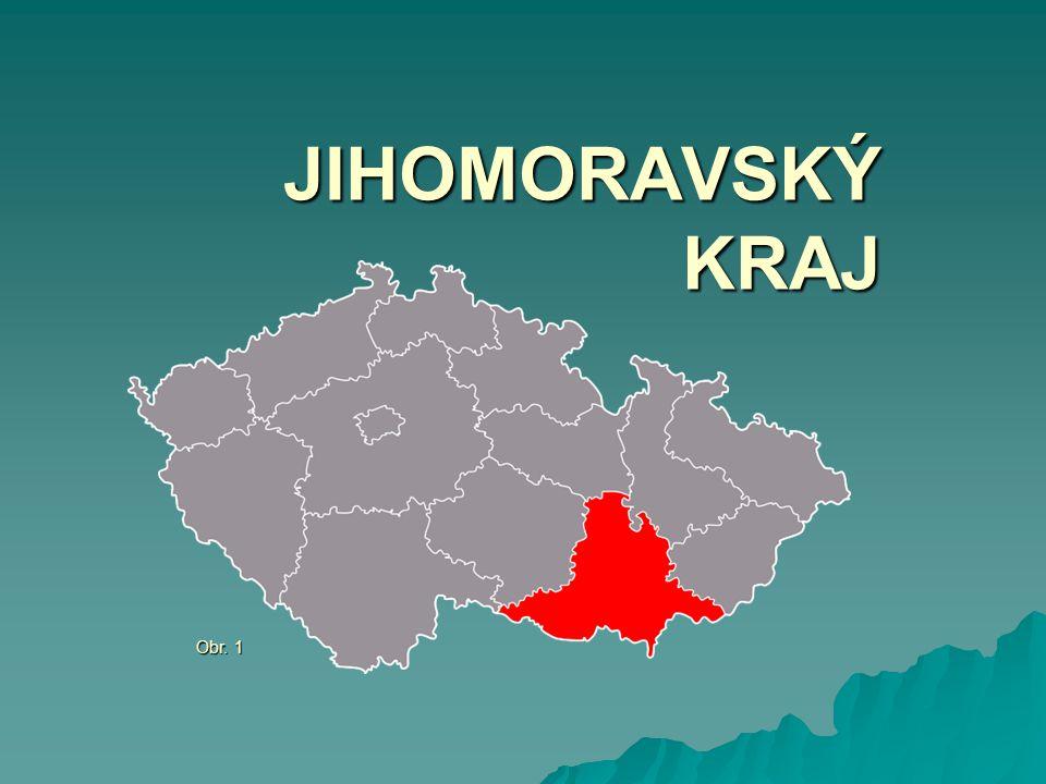 ZÁKLADNÍ INFORMACE Počet obyvatel: 1 200 000 (2012) Rozloha: 7 197 km 2, okresů: 7 Krajské město: Brno Hustota zalidnění: 157 obyv./km 2 Nejvyšší bod: Čupec (819 m.n.m.) Obr.