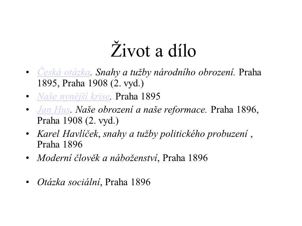 Život a dílo Česká otázka. Snahy a tužby národního obrození.
