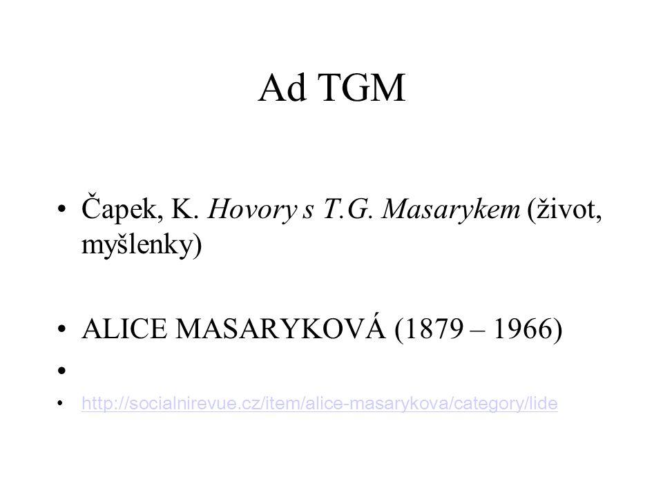 Ad TGM Čapek, K. Hovory s T.G.