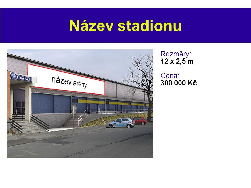 Pod tribunou Rozměry: 2,5 x 0,8 m Cena: 20 000 Kč