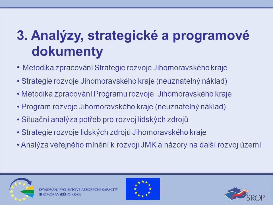 3. Analýzy, strategické a programové dokumenty Metodika zpracování Strategie rozvoje Jihomoravského kraje Strategie rozvoje Jihomoravského kraje (neuz