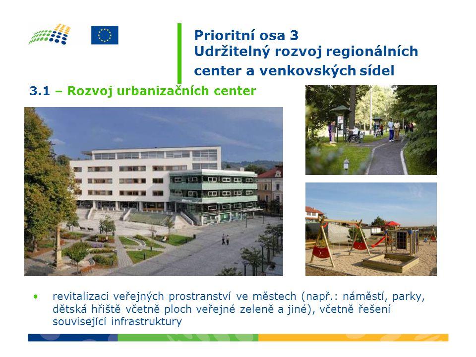 komplexní úpravy veřejných prostranství (např.