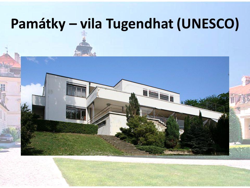 Památky – vila Tugendhat (UNESCO)