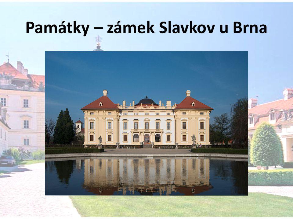 Památky – zámek Slavkov u Brna