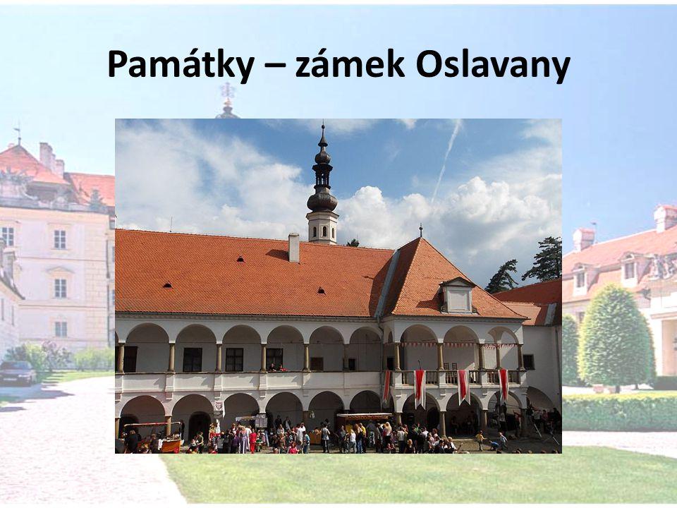 Památky – zámek Oslavany