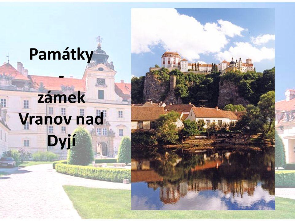 Památky - zámek Vranov nad Dyjí