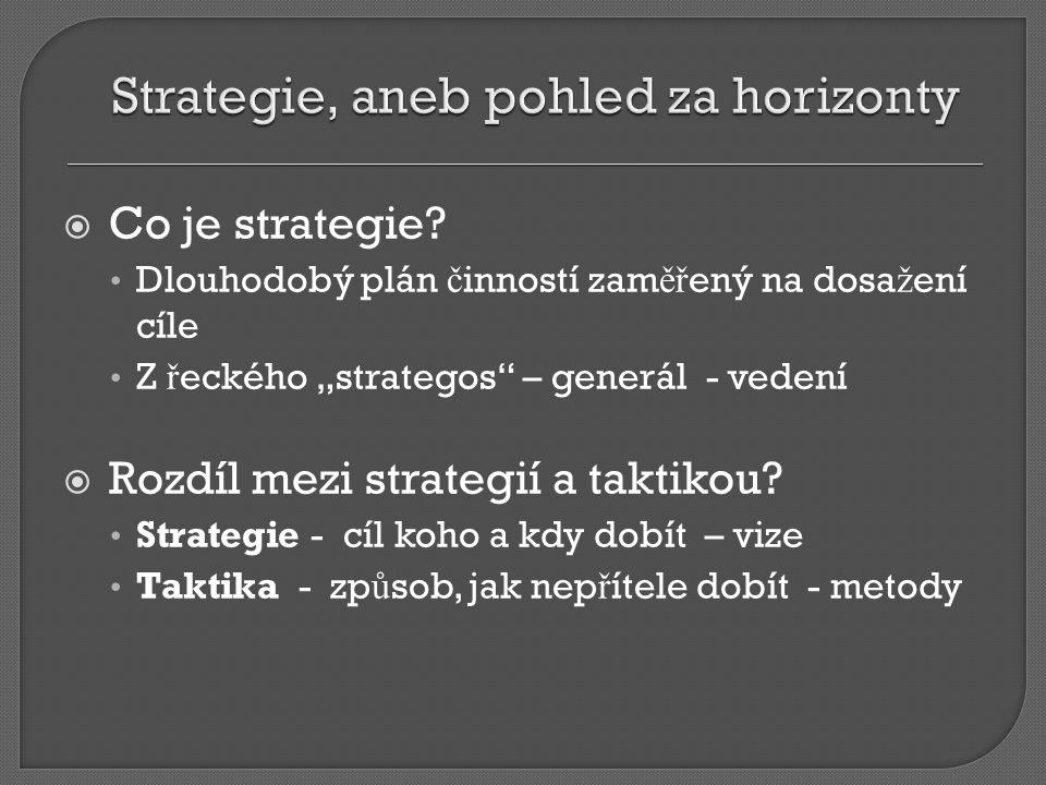  Co je strategie.