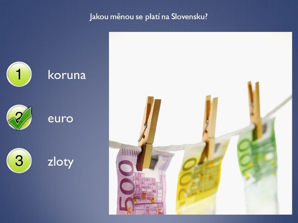 Jakou měnou se platí na Slovensku? koruna euro zloty