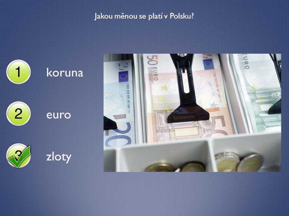 Jakou měnou se platí v Polsku? koruna euro zloty