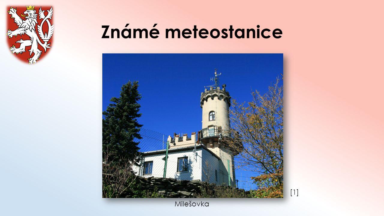 Známé meteostanice [1][1] Milešovka