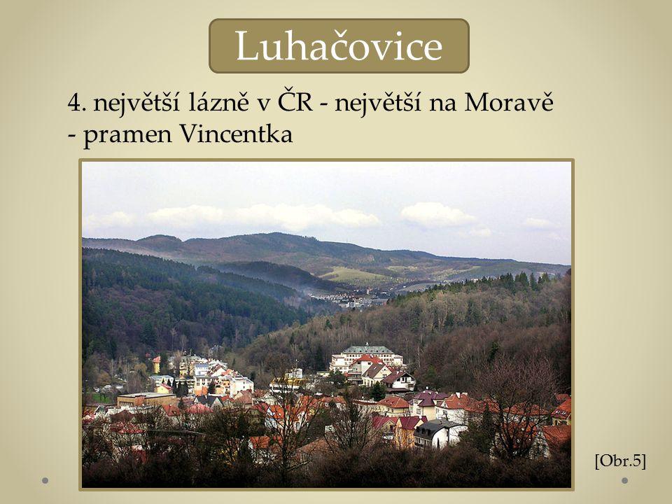 Luhačovice 4. největší lázně v ČR - největší na Moravě - pramen Vincentka [Obr.5]