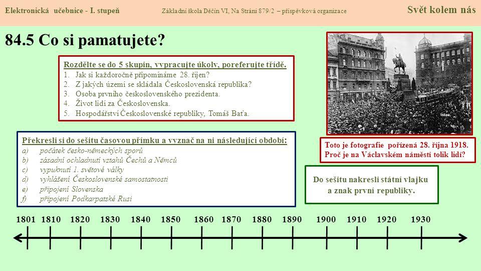 Šarlota Masaryková manželka prezidenta Masaryk v Lánech 84.6 Něco navíc pro šikovné Elektronická učebnice - I.