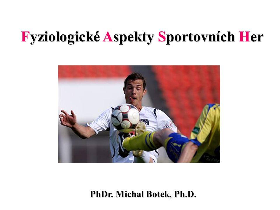 Fyziologické Aspekty Sportovních Her PhDr. Michal Botek, Ph.D.