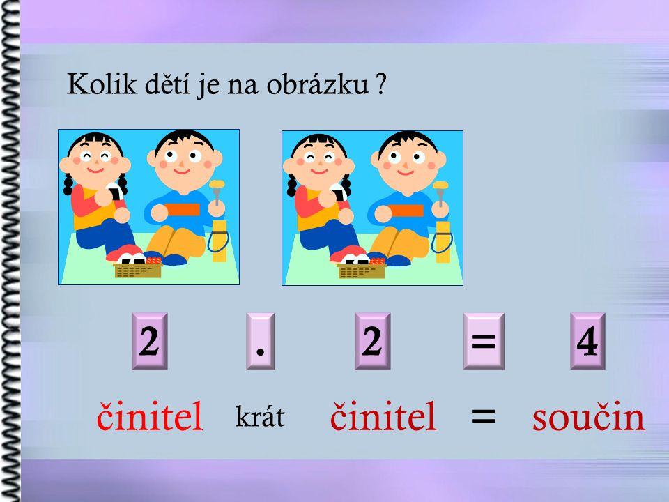 2. 2=4 č initel krát č initel = sou č in Kolik d ě tí je na obrázku ?