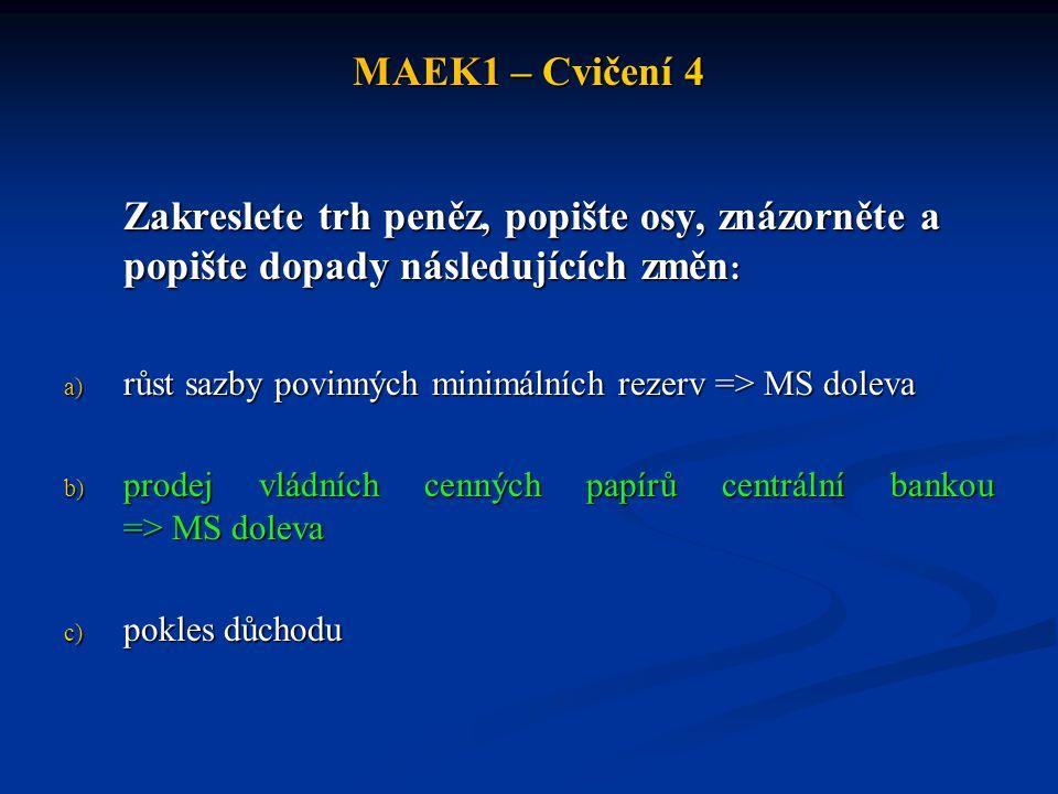 MAEK1 – Cvičení 4 Cvičení 3.
