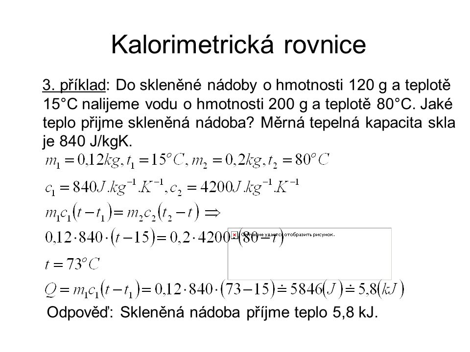 Kalorimetrická rovnice 3.