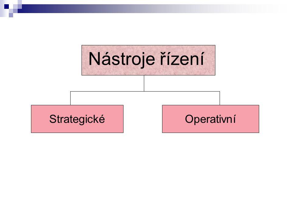 Nástroje řízení StrategickéOperativní