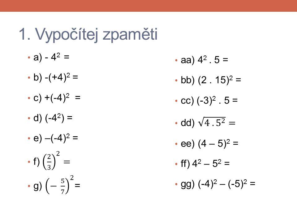 2. Vypočítejte