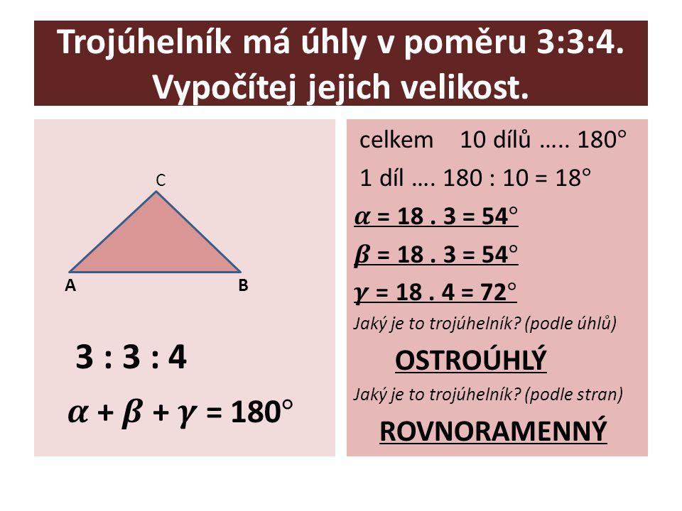 Délky stran obdélníku jsou v poměru 5 : 4, šířka je 12 cm.