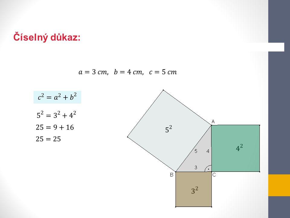 1.Ověř, zda jsou dané trojúhelníky pravoúhlé.