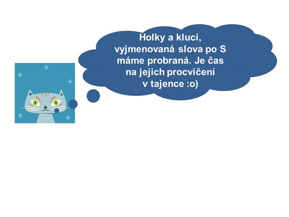 Mgr. Kateřina Fiedlerová Vyjmenovaná slova po S - opakování formou křížovky. 6. ročník