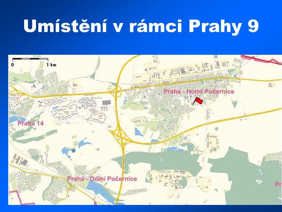 Umístění v rámci Prahy 9