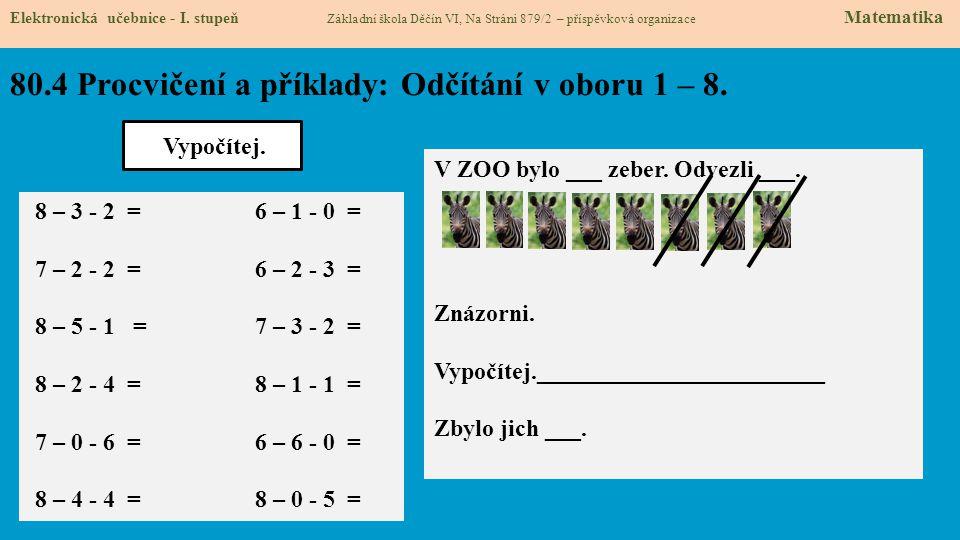 80.5 Procvičení a příklady: Sčítání v oboru 1 – 9.
