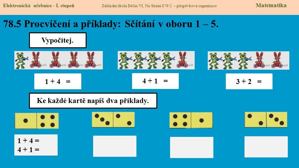 78.5 Procvičení a příklady: Sčítání v oboru 1 – 5.