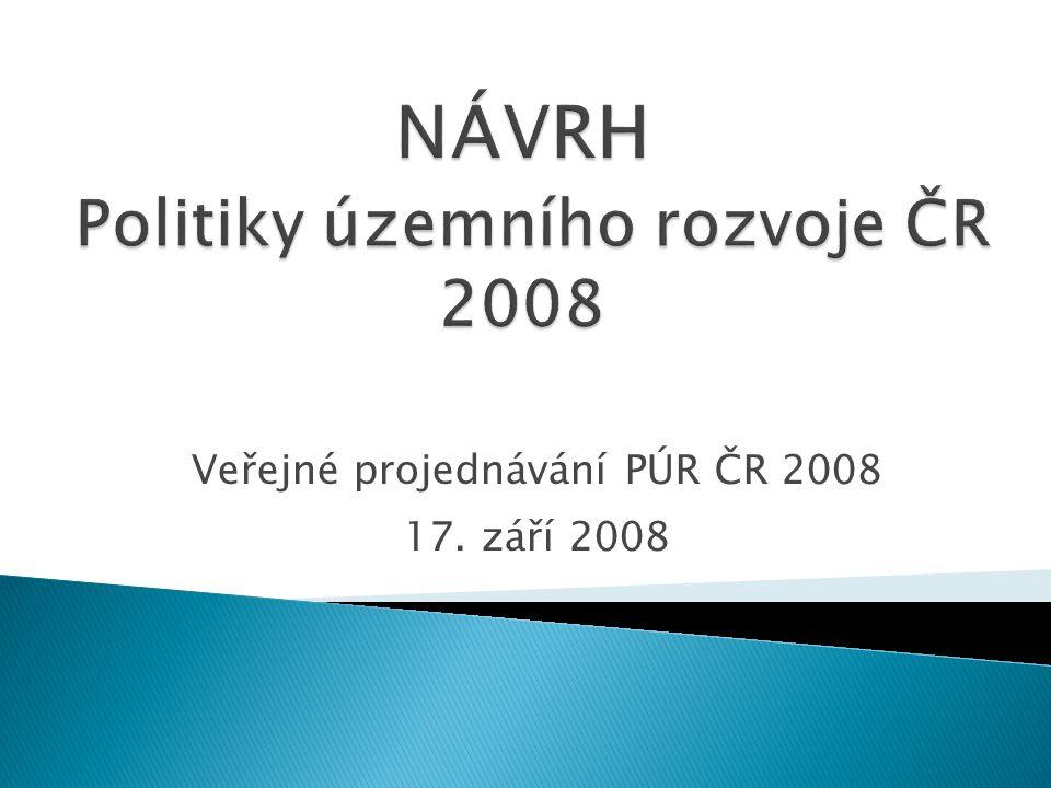 Veřejné projednávání PÚR ČR 2008 17. září 2008