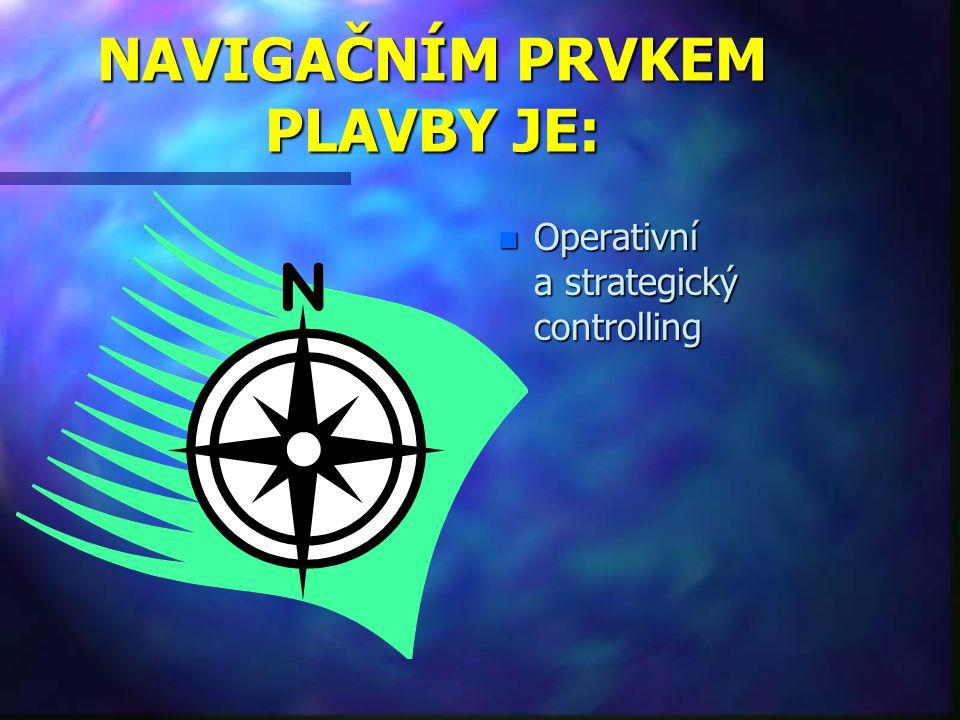 NAVIGAČNÍM PRVKEM PLAVBY JE: n Operativní a strategický controlling