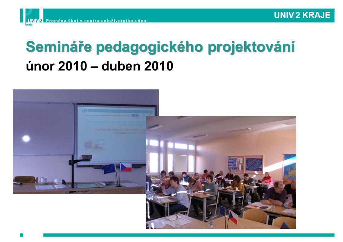 UNIV 2 KRAJE Semináře pedagogického projektování únor 2010 – duben 2010