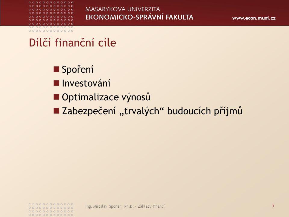 www.econ.muni.cz Základní investiční zásady Připravte se na chyby.