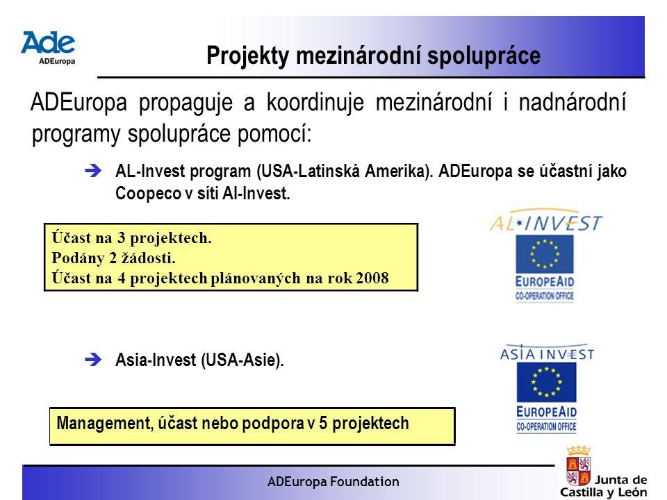 Proyecto: La foca monje ADEuropa Foundation Projekty mezinárodní spolupráce ADEuropa propaguje a koordinuje mezinárodní i nadnárodní programy spolupráce pomocí:  AL-Invest program (USA-Latinská Amerika).
