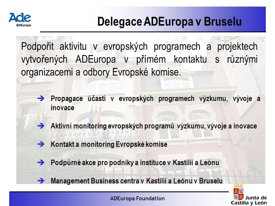Proyecto: La foca monje ADEuropa Foundation Delegace ADEuropa v Bruselu Podpořit aktivitu v evropských programech a projektech vytvořených ADEuropa v přímém kontaktu s různými organizacemi a odbory Evropské komise.