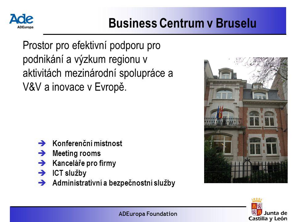 Proyecto: La foca monje ADEuropa Foundation Business Centrum v Bruselu Prostor pro efektivní podporu pro podnikání a výzkum regionu v aktivitách mezinárodní spolupráce a V&V a inovace v Evropě.